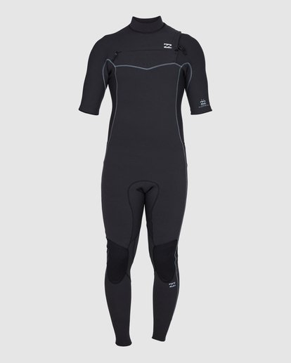 1 202 Revolution Pro Chest Zip Short Sleeve Fullsuit Black 9707902 Billabong