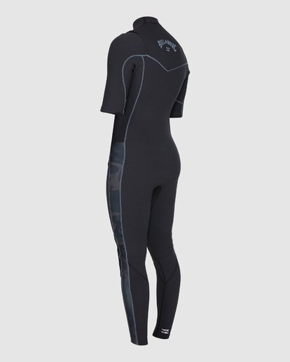 5 202 Revolution Pro Chest Zip Short Sleeve Fullsuit Black 9707902 Billabong