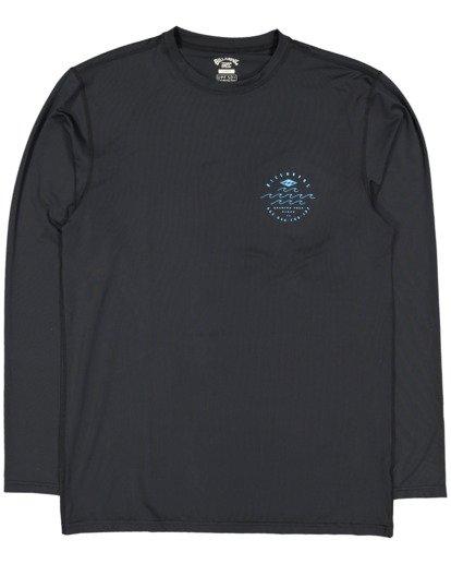 4 Wavey Davey Loose Fit Long Sleeve Rash Vest Black 9713010 Billabong