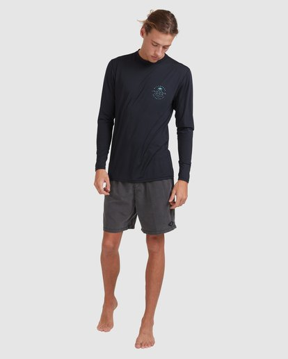 6 Wavey Davey Loose Fit Long Sleeve Rash Vest Black 9713010 Billabong
