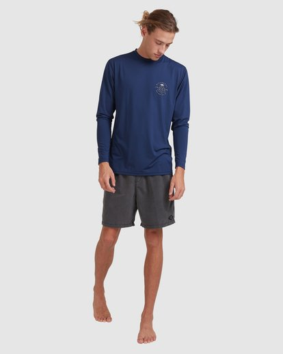 6 Wavey Davey Loose Fit Long Sleeve Rash Vest Blue 9713010 Billabong