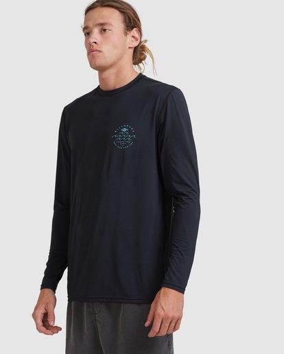 1 Wavey Davey Loose Fit Long Sleeve Rash Vest Black 9713010 Billabong