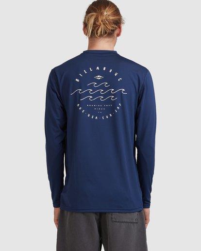 2 Wavey Davey Loose Fit Long Sleeve Rash Vest Blue 9713010 Billabong