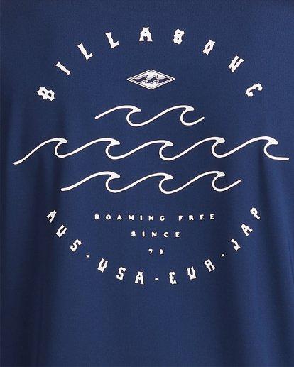3 Wavey Davey Loose Fit Long Sleeve Rash Vest Blue 9713010 Billabong