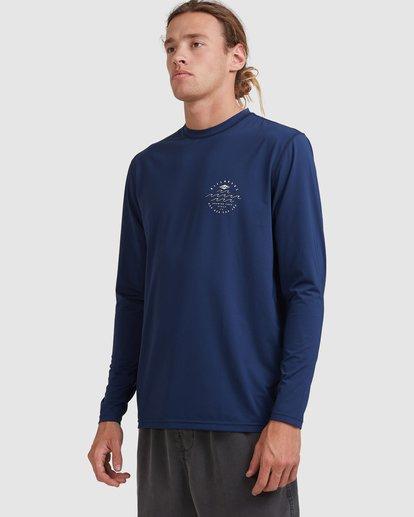 1 Wavey Davey Loose Fit Long Sleeve Rash Vest Blue 9713010 Billabong