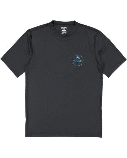 4 Wavey Davey Loose Fit Short Sleeve Rash Vest Black 9713011 Billabong