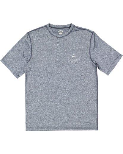 4 Wavey Davey Loose Fit Short Sleeve Rash Vest Blue 9713011 Billabong