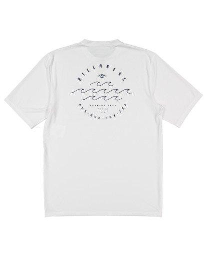 5 Wavey Davey Loose Fit Short Sleeve Rash Vest White 9713011 Billabong