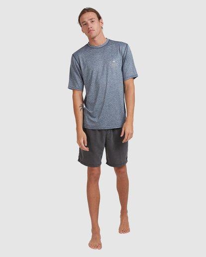 6 Wavey Davey Loose Fit Short Sleeve Rash Vest Blue 9713011 Billabong