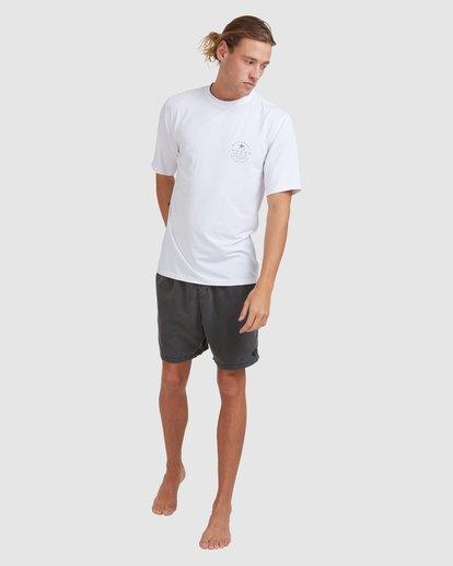 6 Wavey Davey Loose Fit Short Sleeve Rash Vest White 9713011 Billabong