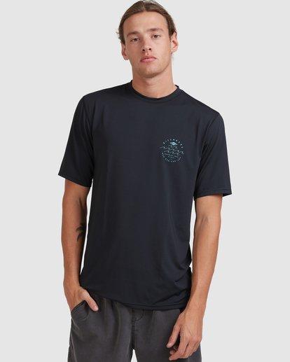 0 Wavey Davey Loose Fit Short Sleeve Rash Vest Black 9713011 Billabong