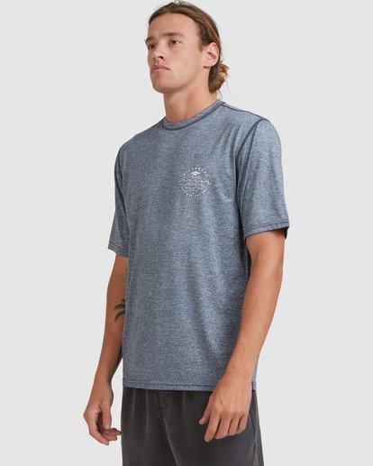 1 Wavey Davey Loose Fit Short Sleeve Rash Vest Blue 9713011 Billabong