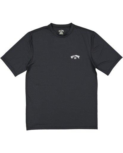 4 Single Arch Loose Fit Short Sleeve Rash Vest Black 9713012 Billabong