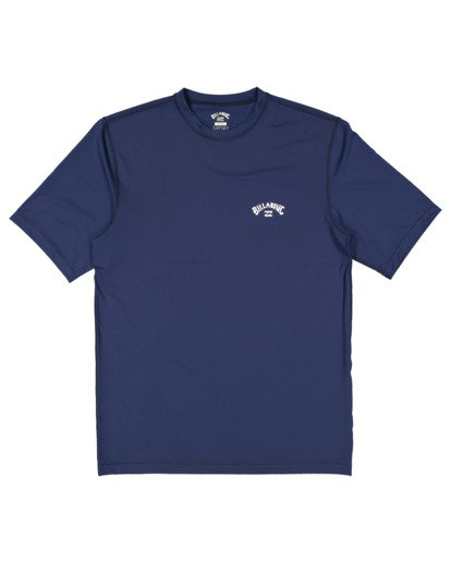 4 Single Arch Loose Fit Short Sleeve Rash Vest Blue 9713012 Billabong