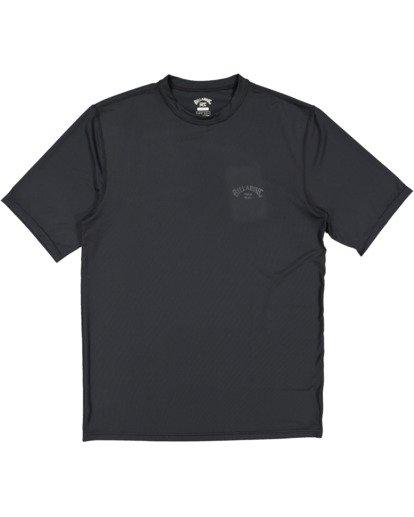 4 Single Arch Loose Fit Short Sleeve Rash Vest Grey 9713012 Billabong