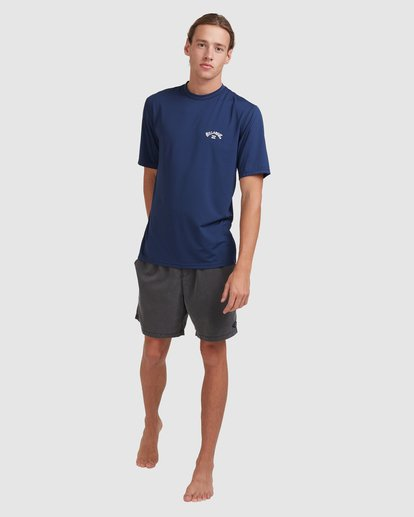 6 Single Arch Loose Fit Short Sleeve Rash Vest Blue 9713012 Billabong