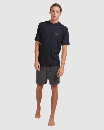 6 Single Arch Loose Fit Short Sleeve Rash Vest Grey 9713012 Billabong