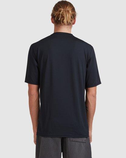 2 Single Arch Loose Fit Short Sleeve Rash Vest Black 9713012 Billabong
