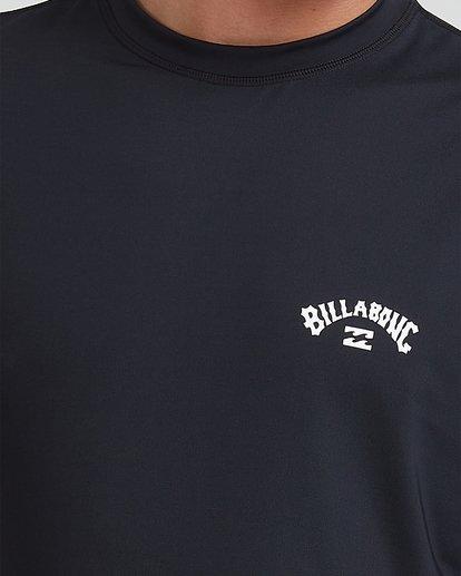3 Single Arch Loose Fit Short Sleeve Rash Vest Black 9713012 Billabong