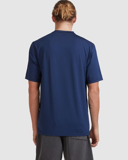 2 Single Arch Loose Fit Short Sleeve Rash Vest Blue 9713012 Billabong