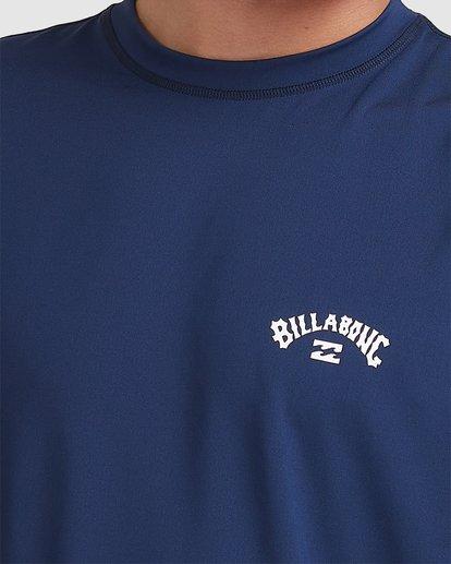 3 Single Arch Loose Fit Short Sleeve Rash Vest Blue 9713012 Billabong