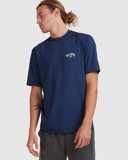0 Single Arch Loose Fit Short Sleeve Rash Vest Blue 9713012 Billabong