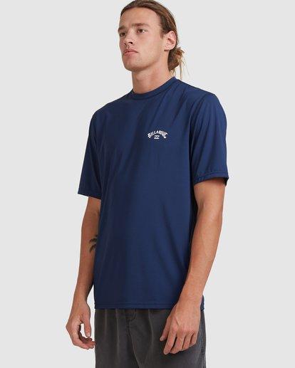 1 Single Arch Loose Fit Short Sleeve Rash Vest Blue 9713012 Billabong