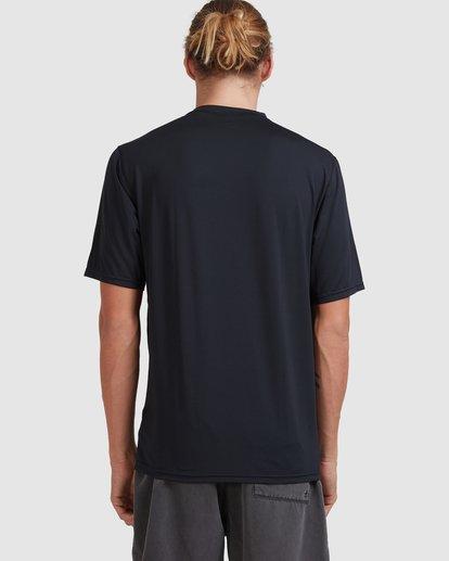 2 Single Arch Loose Fit Short Sleeve Rash Vest Grey 9713012 Billabong