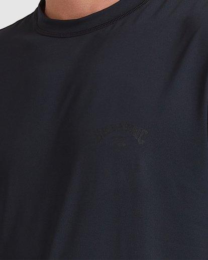 3 Single Arch Loose Fit Short Sleeve Rash Vest Grey 9713012 Billabong