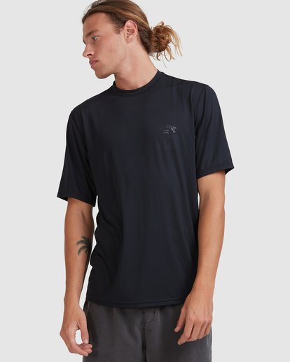 0 Single Arch Loose Fit Short Sleeve Rash Vest Grey 9713012 Billabong