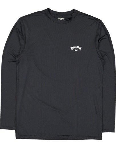 4 Single Arch Loose Fit Long Sleeve Rash Vest Black 9713013 Billabong