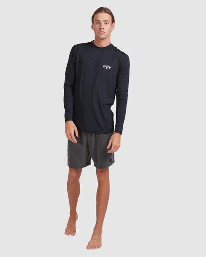 6 Single Arch Loose Fit Long Sleeve Rash Vest Black 9713013 Billabong