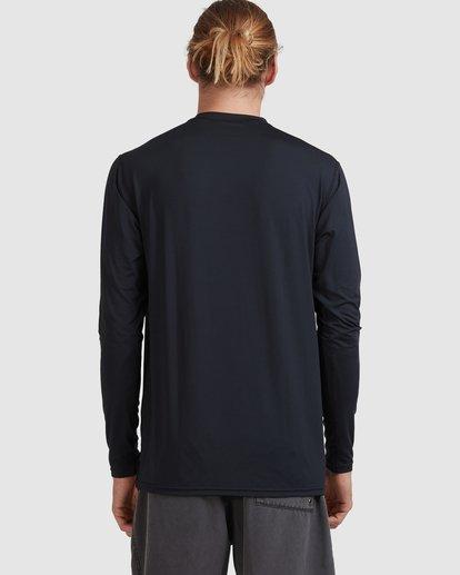 2 Single Arch Loose Fit Long Sleeve Rash Vest Black 9713013 Billabong