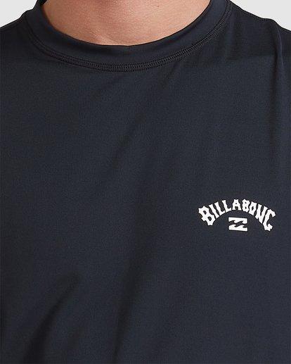 3 Single Arch Loose Fit Long Sleeve Rash Vest Black 9713013 Billabong