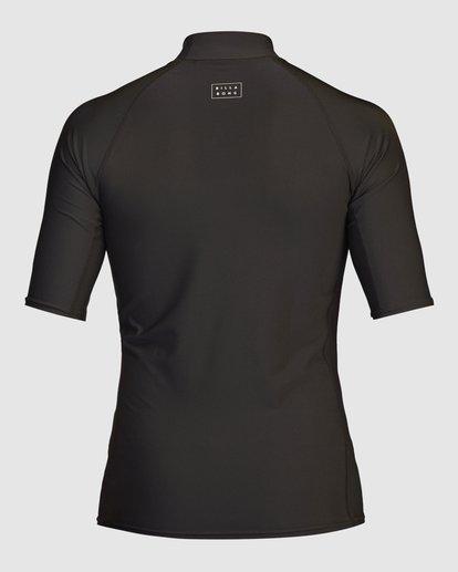 3 All Day Wave Performance Fit Short Sleeve Rashguard Black 9713015 Billabong