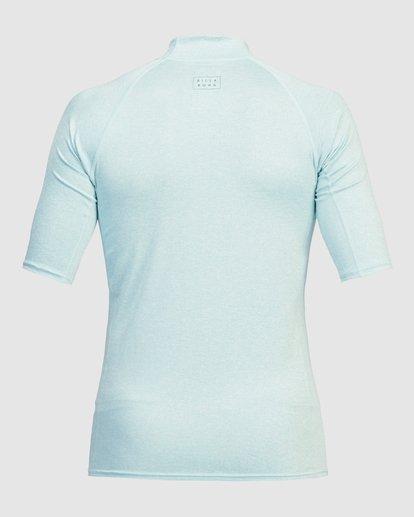 3 All Day Wave Performance Fit Short Sleeve Rashguard Blue 9713015 Billabong