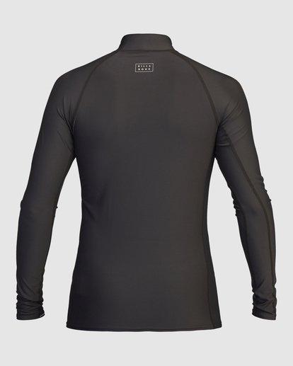 3 All Day Wave Performance Fit Long Sleeve Rashguard Black 9713016 Billabong