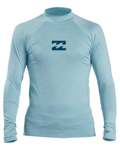 1 All Day Wave Performance Fit Long Sleeve Rashguard Blue 9713016 Billabong