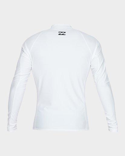 2 All Day United Performance Fit Rash Vest White 9781005 Billabong