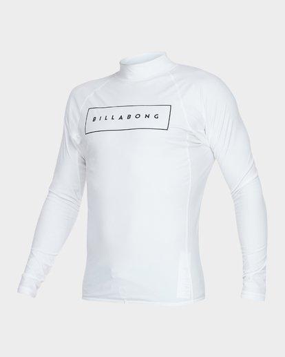 1 All Day United Performance Fit Rash Vest White 9781005 Billabong