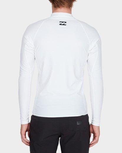 5 All Day United Performance Fit Rash Vest White 9781005 Billabong