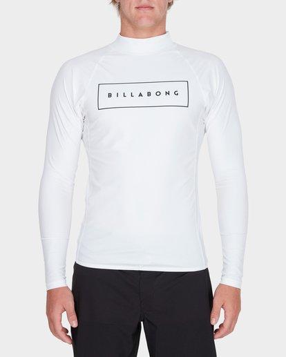 3 All Day United Performance Fit Rash Vest White 9781005 Billabong