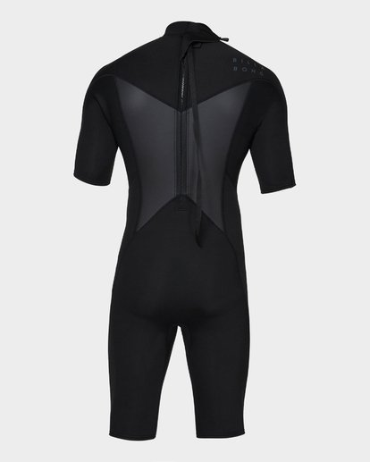 2 Absolute 202 Back Zip Spring Suit Black 9781400 Billabong