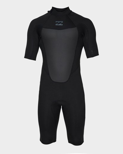 1 Absolute 202 Back Zip Spring Suit Black 9781400 Billabong