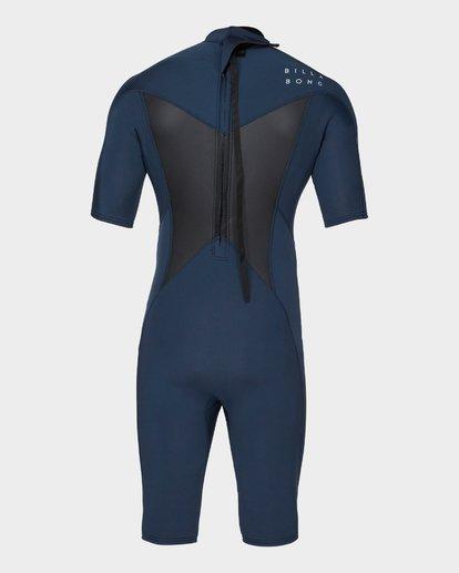 2 Absolute 202 Back Zip Spring Suit Grey 9781400 Billabong