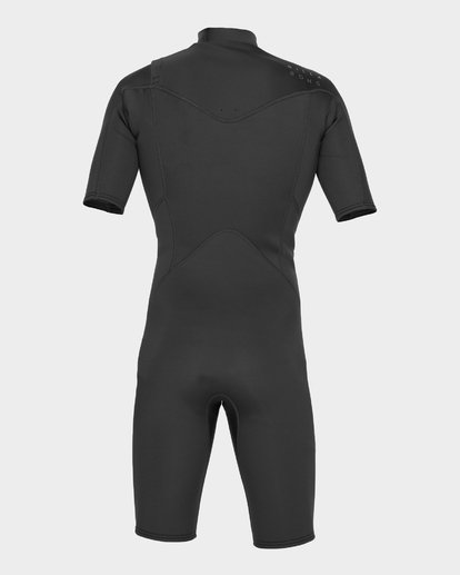 2 ABSOLUTE 202 CHEST ZIP SPRING SUIT Black 9781415 Billabong