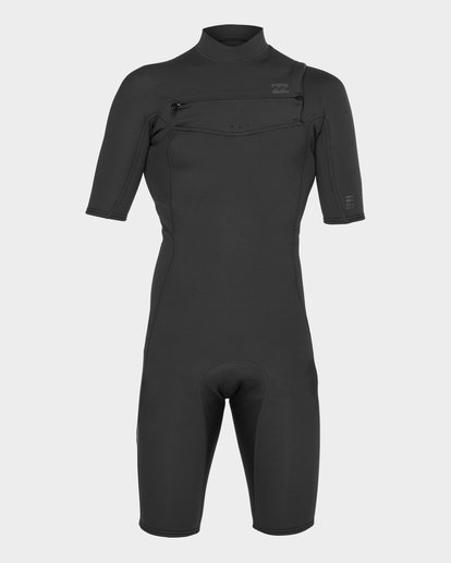 1 ABSOLUTE 202 CHEST ZIP SPRING SUIT Black 9781415 Billabong