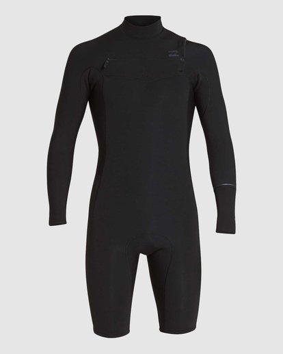 1 REVOLUTION 202 CHEST ZIP SPRING SUIT Black 9781520 Billabong