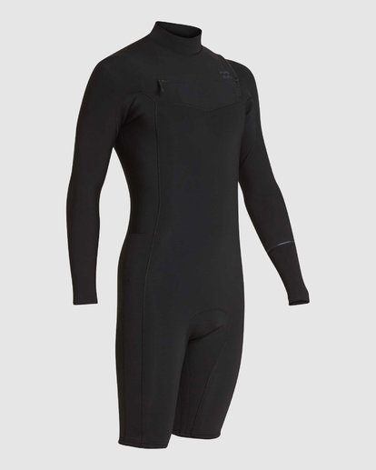 2 REVOLUTION 202 CHEST ZIP SPRING SUIT Black 9781520 Billabong