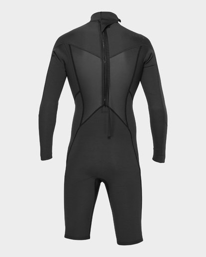 2 ABSOLUTE 202 BACK ZIP SPRING SUIT Black 9781521 Billabong